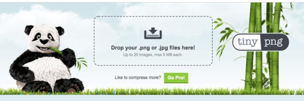 TinyPNGのトップページ