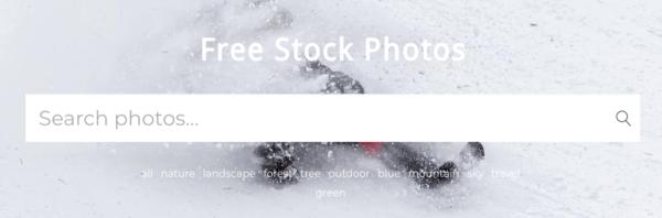 Free Stock Photoのファーストビュー
