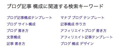 「ブログ記事 構成」の関連キーワード