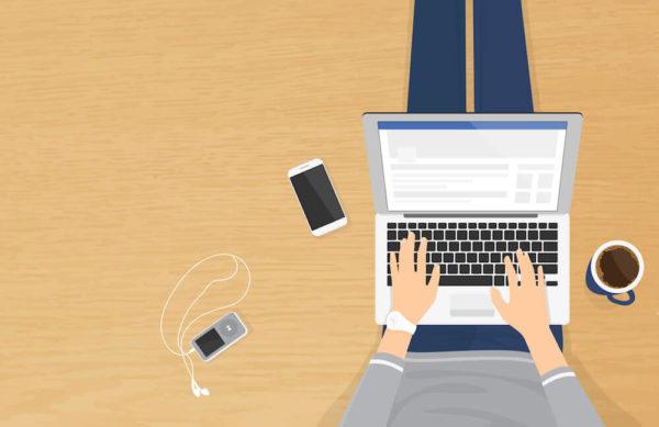 ブログを書く人のイラスト