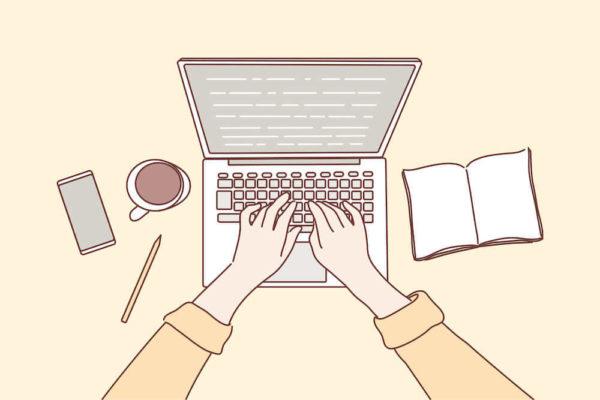 ブログ記事を書くイメージイラスト