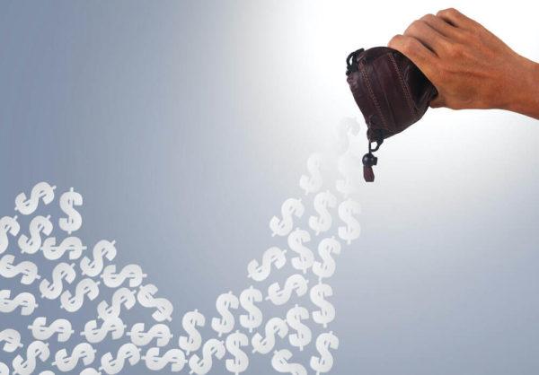 お金を浪費するイメージ画像