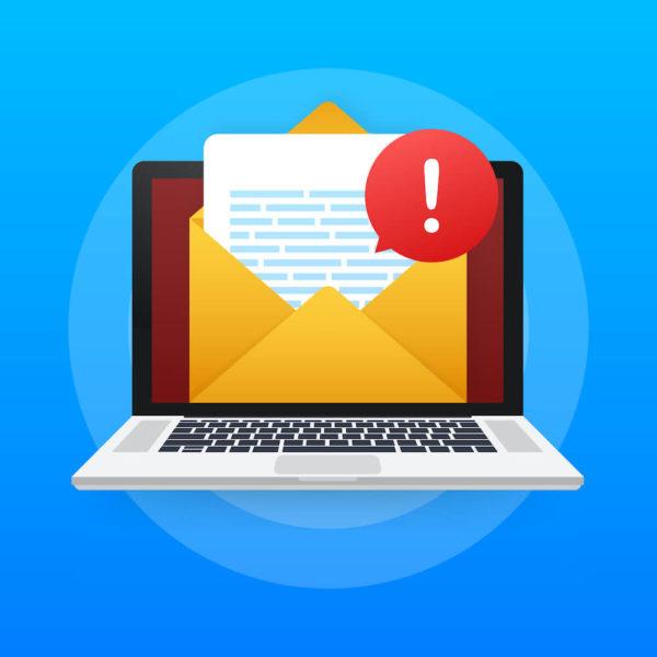 メールをブロックするイメージイラスト