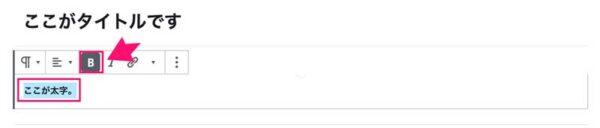 WordPressの太字ボタン